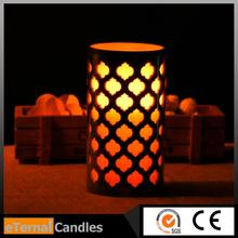 China special model flameless wax carving surface of the led candle