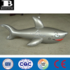 Promotional customized OEM PVC inflatable silver shark plastic shark toy soft vinyl blow up shark