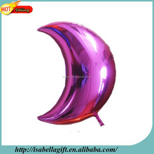 China supplier 2014 hot sale new design purple moon shape foil mylar balloons