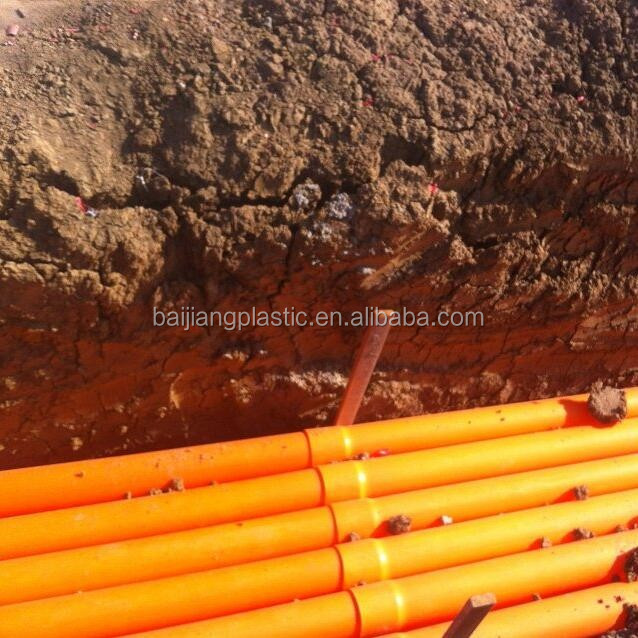 400mm Underground PVC Pipe Orange Electrical