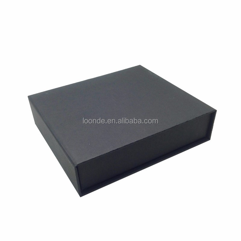 Personalized black jewellery cardboard box for gift storage