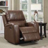ZOY-99180-51 America style sodern synthetic leather single sofa furniture, recliner chair