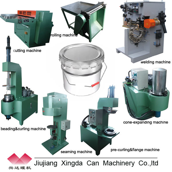 10-25L Paint /Lubricant /Engine Oil Tin Can Making Line Machinery