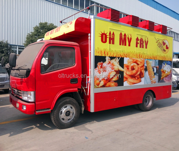 Brand New Dongfeng Restaurant food truck /mobile kitchen vehicle