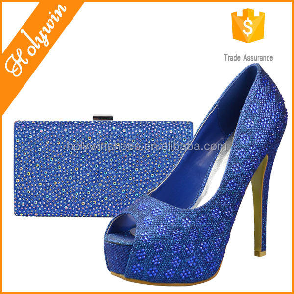 Royal blue womens italian style shoes,bruno giordano italian shoe and bag set