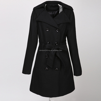 2016 new manufacturer supplier wool blend autumn coat small quantity OEM label dropship