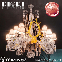 Elegant 15 Light Baccarat Chandelier With Lamp Shade