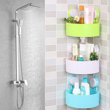 Bathroom Corner Storage Rack Organizer Shower Wall Shelf with Suction Cup