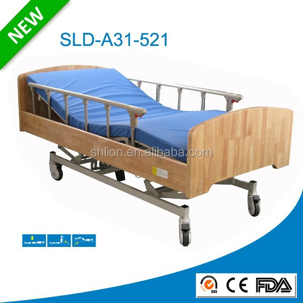 Wooden Electric Home Bed Used Functional Nursing Home Beds