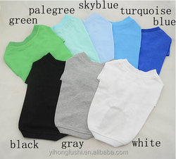 Wholesale blank t shirts for pet dog / blank dog t shirts china wholesale /cotton t-shirts / pet summer clothes