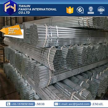 Tianjin Fangya ! 25mm erw galvanized round steel pipe galvanized steel pipes 3 inch with low price