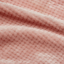 knitting warp polyester Double Sides Jacquard PD Soild Color Flannel Fleece Fabric