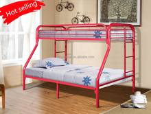 Metal triple bunk bed frame for dormitory sale