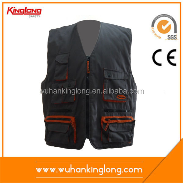 Canvas sleeveless work vest working tool vest
