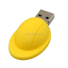 Shenzhen Custom pvc safety helmet shape usb flash drive 4gb 8gb with free logo