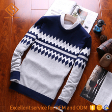 manufacturer china men european type zigzag pure plain color heavy knit pullover sweater design