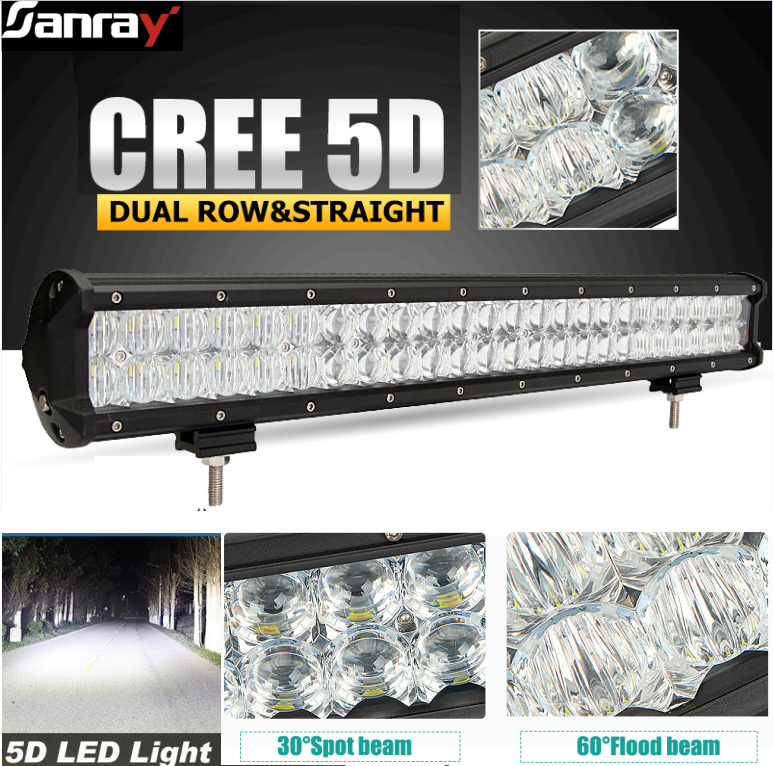 high quality 5D option lens led truck driving light bar 5D lens offroad led light bar