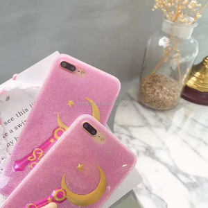 Cute 3D Moon and Star phone case For iPhone 7 6 6S Plus Soft TPU Soft Case For Apple Phone Bag Cases Silicone Cover Housing