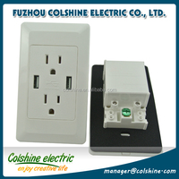 Amerian/USA flush mount electrical receptacle outlet with USB