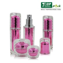 Hot!Cream 15ml 30ml 50ml Airless Pump Bottle , Plastic Acrylic Round Cosmetic Packaging 100ml Bottle Clear Round Plastic bottle