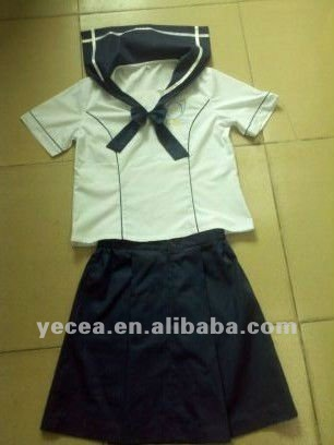 New design girls school uniform