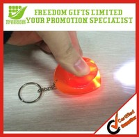 Promotional Giveaway Led Plastic Flashlight Keyring
