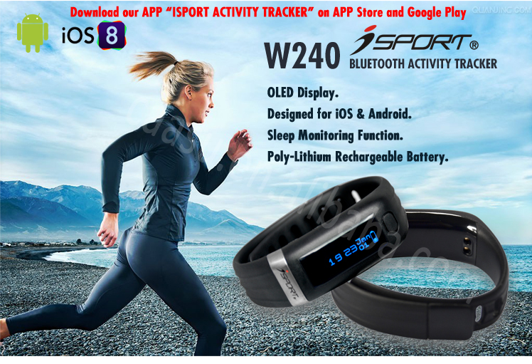 wireless bluetooth smart fitness wristband heart rate monitor