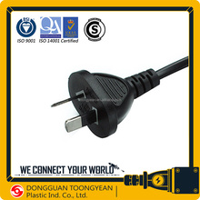 Argentina IRAM approval AC power cord 10A/250V 2 pin plug