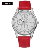 GAIETY Women Watches Luxury Fashion Leather 2017 Band Casual Quartz Wrist Watch Silver Dress Watches For Women