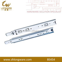 Heavy duty drawer bearing slide , rails for cabinet , drawer slides steel hardware