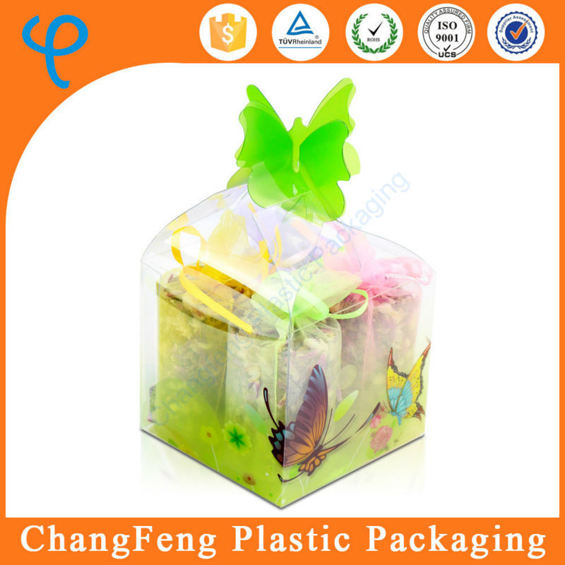 Creative Clear PET Plastic Wedding Favors Candy Box