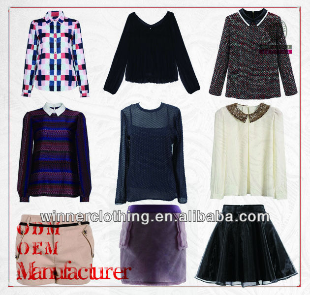 Hot sale fashion style top quality ladies' names different clothing styles