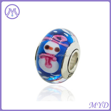 Christmas snowman lampwork bead & glass bead & murano bead for European jewelry