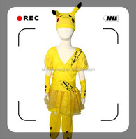 Pikachu girl party wear dress lyrical dance costume dress
