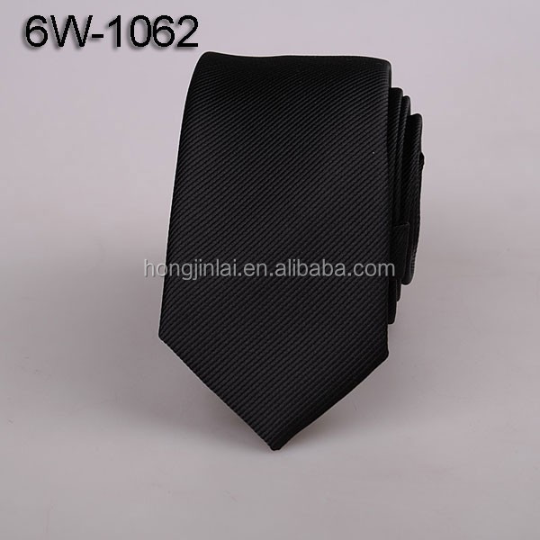Black Polyester woven neck <strong>ties</strong> micro fiber necktie womens neck <strong>tie</strong> 6W1062