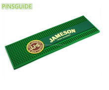 Promotion 3D embossing Advertising Logo Soft PVC Rubber Beer Bar Mat With Factory price