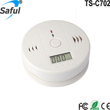 2016 Newest Top Saful Zigbee Independent Carbon Monoxide Alarm Detector Device TS-C702 LCD Display Home Security