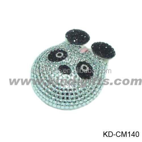 High quality animal mouse crystal personalized decorative gaming mouse