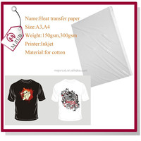 Hot Sale Laser Printer A4 Dark Heat Transfer Paper Iron on Transfer for Dark Color T-shirt