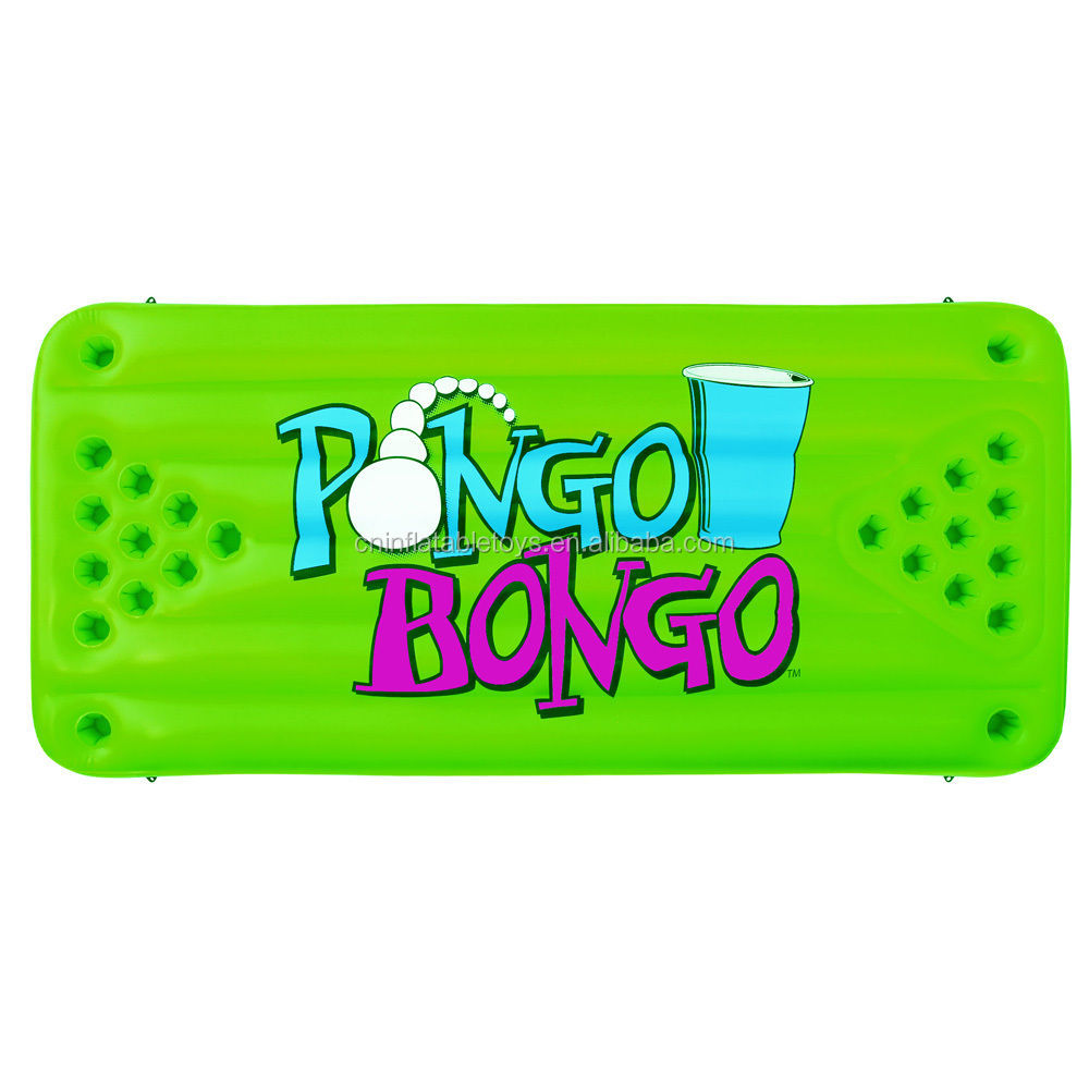 Factory Pongo Bongo Floating Pool Inflatable Beverage Beer Pong Table