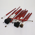 Red handle face cosmetic brush makeup brush set