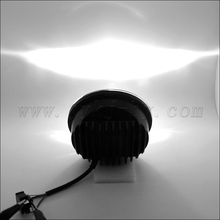 "high and low beam bicycle 5.75"" round black/chrome led headlight motorcycle fittable for Harley"