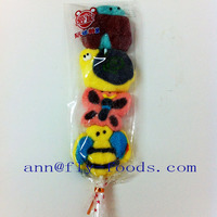 Butterfly Shape Assorted Flavour Halal Marshmallow Lollipop Candy