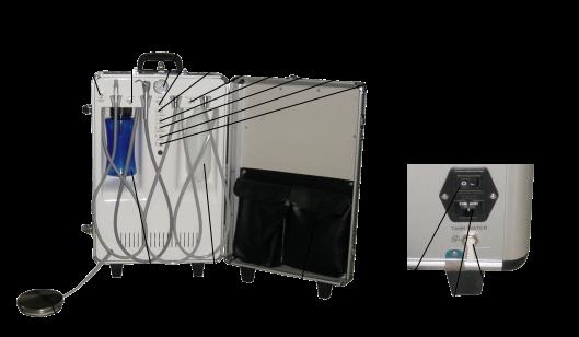 portable dental unit equipment portable dental trolley