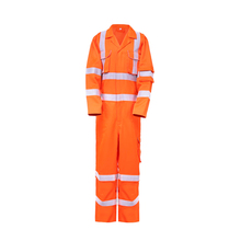 China supplier workman's coverall workwear <strong>orange</strong> coverall men uniform