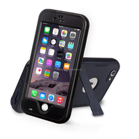 "2016 new design waterproof/Shockproof Stand Case Cover for Iphone 6 4.7"" Black"