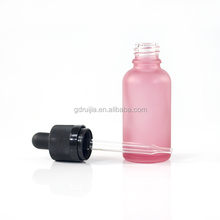 30ml baby pink frosted essential oil Bottles 1oz Pink Glass Dropper Bottle