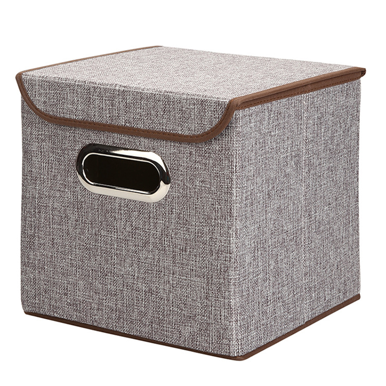 2017 wholesale yiwu non-woven fabrics household handle box Multi-function Folding Cloth storage box