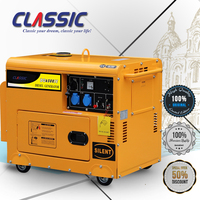 CLASSIC(CHINA) 5Kva 5KW Silent Diesel Generator Price, 5Kva AC Single Phase Diesel Generator Fuel Consumption Per Hour