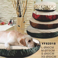 L,M,S,XS Soft plush fur dog bed